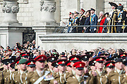 The Royals watch the fly past. A memorial service, fly and march past for all the forces who fought in Afghanistan is attended by the Royal Family. St Paul's Cathedral, London, UK 13 Mar 2015