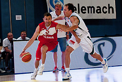 Lukasz Wisniewski of Poland vs Samo Udrih of Slovenia at exhibition game between Slovenia and Poland for Primus Trophy 2011Lithuania as part of exhibition games before European Championship L2011on July 23, 2011, in Ljudski Vrt, Ptuj, Slovenia. (Photo by Matic Klansek Velej / Sportida)