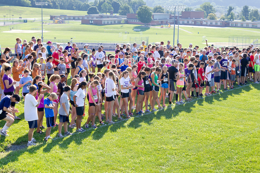 Central Valley, New York - Runners gather on the starting line at the Woodbury Country Ramble race on Aug. 26, 2012.