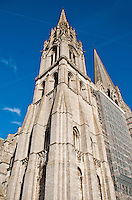 Our Lady of Chartres Cathedral, Chartres, France. Exterior of the north, Flamboyant, Tower.