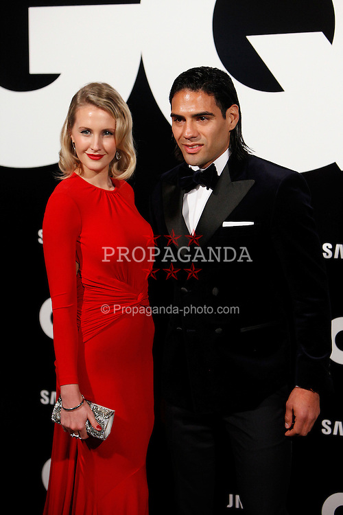MADRID, SPAIN - Monday, November 19, 2012: Radamel Falcao and Lorelei Dahiana TarÛn attends GQ Men of the Year 2012 Awards at at the Westin Palace Hotel. (Pic by Caro Marin/AlterPhotos/Propaganda)