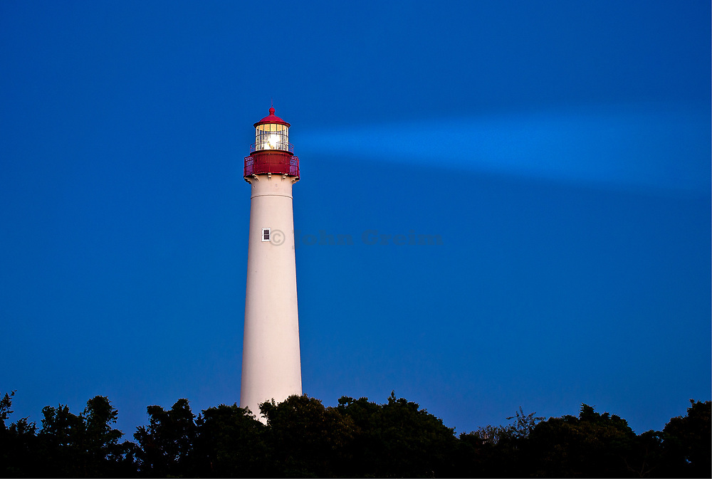 Cape May lighthouse, Cape May,  New Jerey, NJ, USA