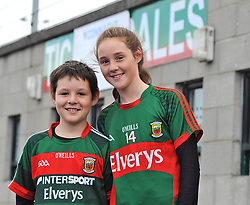 A Day out watchin Mayo at McHale park were Michael and Laurna O'Malley from Clare Island <br /> Pic Conor McKeown