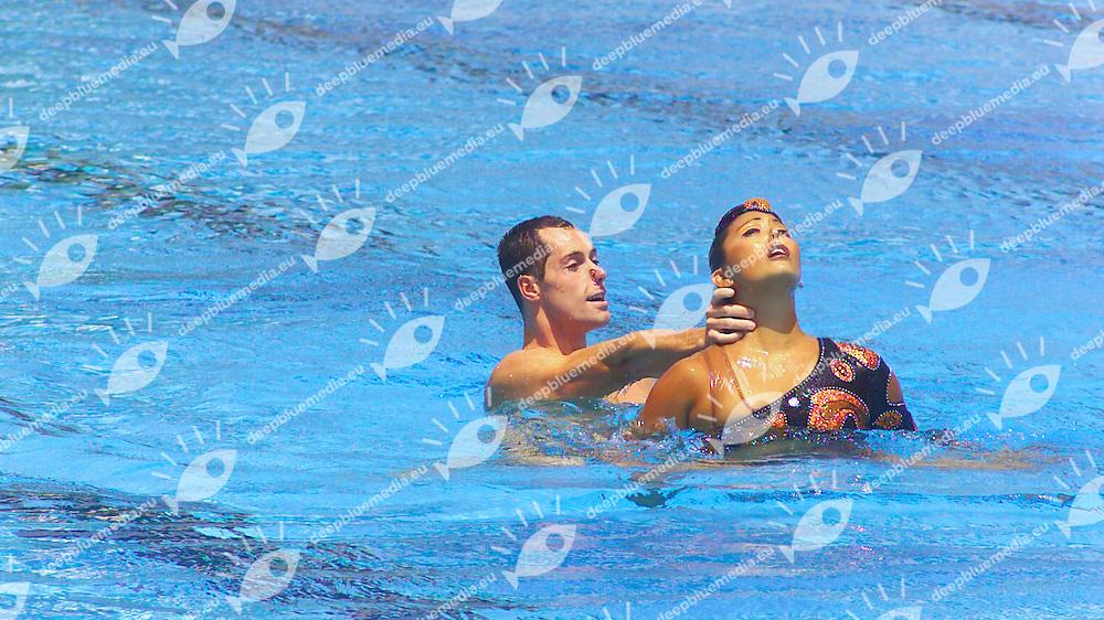 Bill May Kristina Lum Underwood USA<br /> Duet<br /> Roma Synchro 2002 <br /> Photo: Giorgio Scala / Deepbluemedia