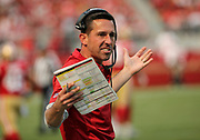 Oct 07, 2018; Santa Clara, CA, USA; San Francisco 49ers head coach Kyle Shanahan during a game against the Arizona Cardinals at Levi's Stadium. Arizona defeated San Francisco 28-18. (Spencer Allen/Image of Sport)
