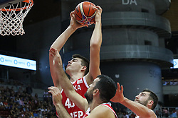 September 17, 2018 - Gdansk, Poland - Ivoica Zubac (40) of Croatia in action is seen in Gdansk, Poland on 17 September 2018  Poland faces Croatia during the Basketball World Cup China 2019 Qualifiers game in the ERGO Arena sports hall in Gdansk  (Credit Image: © Michal Fludra/NurPhoto/ZUMA Press)