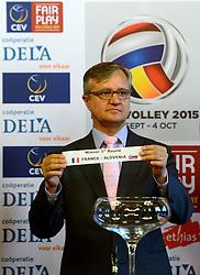 12-11-2014 BEL: Loting EK volleybal 2015 vrouwen, Antwerpen<br /> In het Antwerpse stadhuis werd door de Nederlandse-, Belgische volleybalbond en de CEV de loting voor het EK vrouwen verricht / Slovenia