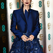 Lily Collins Arrivers at EE British Academy Film Awards in 2019 after-party dinner at Grosvenor house on 10 Feb 2019.