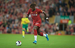LIVERPOOL, ENGLAND - Friday, August 9, 2019: Liverpool's Divock Origi during the opening FA Premier League match of the season between Liverpool FC and Norwich City FC at Anfield. (Pic by David Rawcliffe/Propaganda)