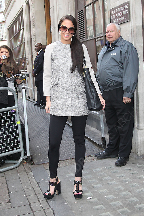 04.APRIL.2012. LONDON<br /> <br /> TULISA CONTOSTAVLOS AT THE BBC RADIO 1 STUDIOS IN LONDON<br /> <br /> BYLINE: EDBIMAGEARCHIVE.COM<br /> <br /> *THIS IMAGE IS STRICTLY FOR UK NEWSPAPERS AND MAGAZINES ONLY*<br /> *FOR WORLD WIDE SALES AND WEB USE PLEASE CONTACT EDBIMAGEARCHIVE - 0208 954 5968*