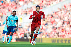 LIVERPOOL, ENGLAND - Saturday, April 14, 2018: Liverpool's Virgil van Dijk during the FA Premier League match between Liverpool FC and AFC Bournemouth at Anfield. (Pic by Laura Malkin/Propaganda)