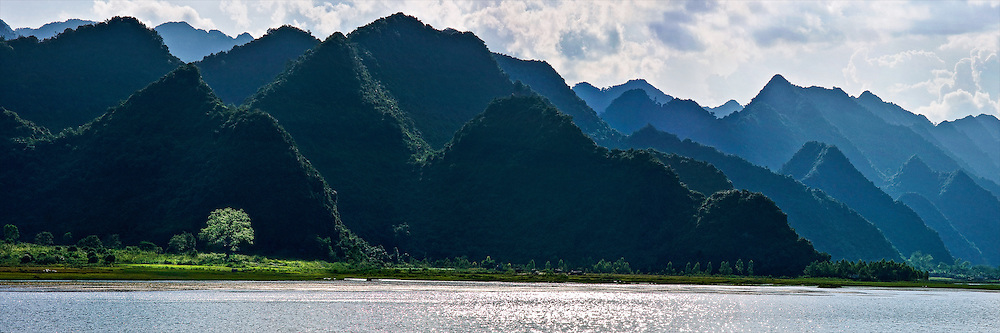 the panorama view of Cuc Phuong national park -Ninh Binh province North Viet nam