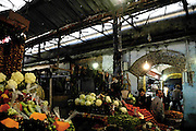 Inside the suq, the food market