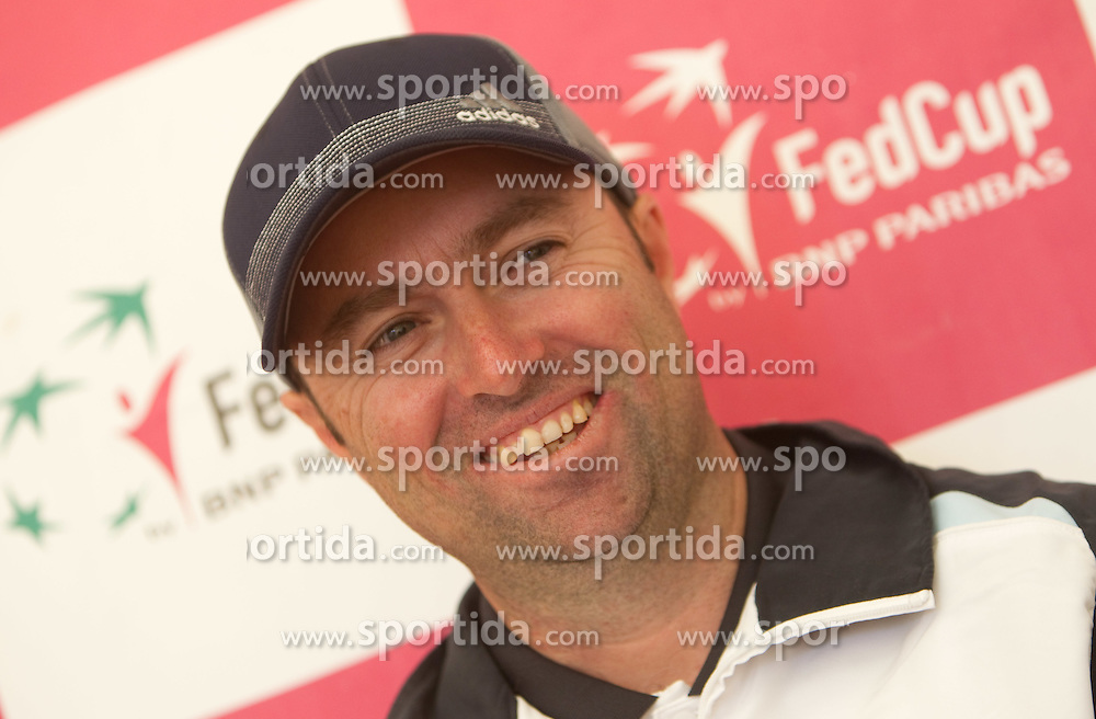 Coach of Slovenia Iztok Bozic during the first day of the tennis Fed Cup match between Slovenia and Canada at Bonifika, on April 16, 2011 in Koper, Slovenia.  (Photo by Vid Ponikvar / Sportida)