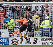 Billy McKay heads home United's late equaliser - Dundee United v Dundee in the Ladbrokes Premiership at Tannadice<br /> <br />  - &copy; David Young - www.davidyoungphoto.co.uk - email: davidyoungphoto@gmail.com