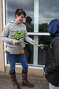 FGR programme seller during the EFL Sky Bet League 2 match between Forest Green Rovers and Luton Town at the New Lawn, Forest Green, United Kingdom on 16 December 2017. Photo by Shane Healey.