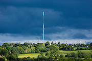 Television and Radio transmitter masts at Beckley in Oxfordshire by Otmoor, England, UK