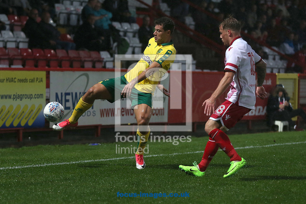 Yanic Wildschut of Norwich in action during the Pre-season Friendly match at the Lamex Stadium, Stevenage<br /> Picture by Paul Chesterton/Focus Images Ltd +44 7904 640267<br /> 11/07/2017