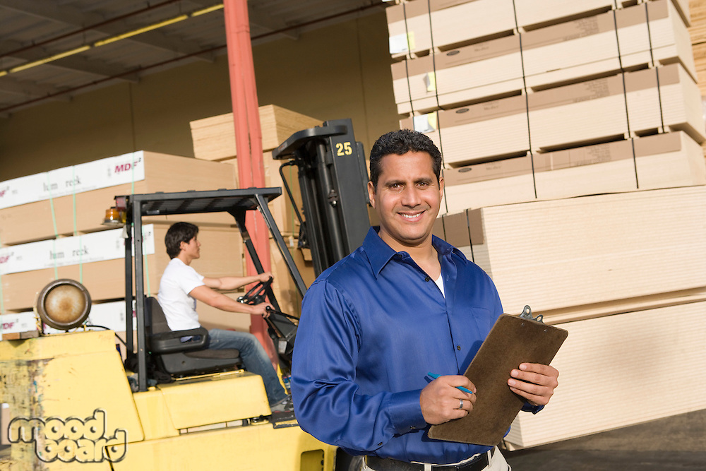 Warehouseman and forklift truck driver