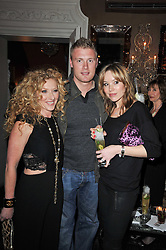 Left to right, KELLY HOPPEN, FREDDIE FLINTOFF and RACHAEL FLINTOFF at a party to celebrate the publication of her new book - Kelly Hoppen: Ideas, held at Beach Blanket Babylon, 45 Ledbury Road, London W11 on 4th April 2011.