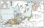 Map of the extent of the Hanseatic League in about 1400