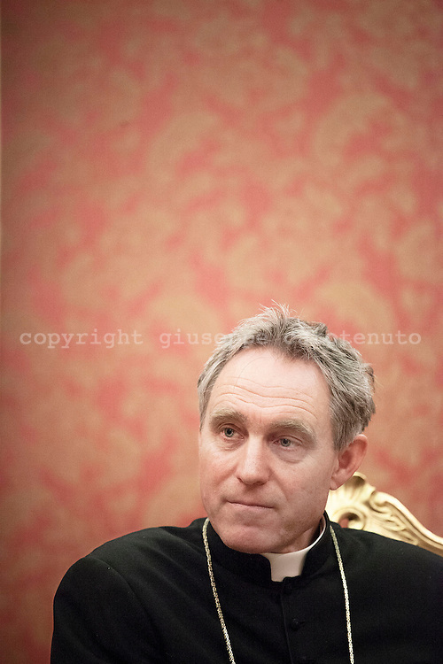 Rome. Georg Gänswein, German Catholic Archbishop 57 years, Prefecture of the Papal Household, private secretary of Papa Benedetto XVI and Francesco;