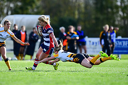 Claire Molloy of Bristol Ladies  is tackled by Danielle Waterman of Wasps Ladies - Mandatory by-line: Craig Thomas/JMP - 28/10/2017 - RUGBY - Cleve RFC - Bristol, England - Bristol Ladies v Wasps Ladies - Tyrrells Premier 15s