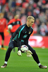 JOE HART GOALKEEPER MANCHESTER CITY, Liverpool FC v Manchester City FC Capital One Cup Final, Wembley Stadium, Sunday 28th Febuary 2016