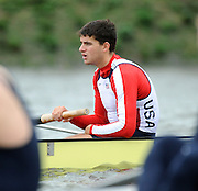 Putney, GREAT BRITAIN, Former Oxford Blue, Brodie BUCKLAND,  Pre Boat Race fixture, Oxford vs USA M8+. , 08/03/2008. [Mandatory Credit, Peter Spurrier/Intersport-images] Varsity Boat Race, Rowing Course: River Thames, Championship course, Putney to Mortlake 4.25 Miles,