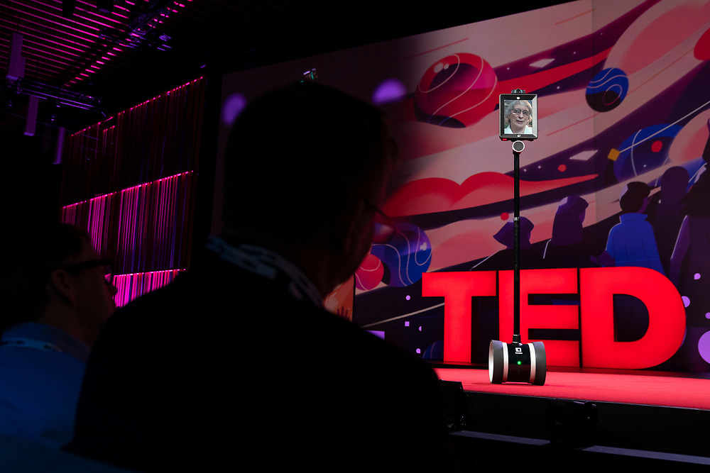 David Deutsch speaks at TED2019: Bigger Than Us. April 15 - 19, 2019, Vancouver, BC, Canada. Photo: Bret Hartman / TED