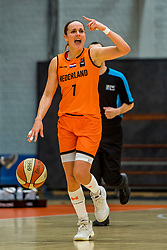 21-11-2018 NED: Netherlands - Bulgaria, Amsterdam<br /> Qualify FIBA Women's EuroBasket 2019 at Sporthallen Zuid Amsterdam / Group Phase Group F, Final Score 89-68 / Tanya Broring #7 of Netherlands