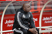 Nottingham Forest's first-team coach Paul Williams during the Sky Bet Championship match between Nottingham Forest and Sheffield Wednesday at the City Ground, Nottingham, England on 12 March 2016. Photo by Jon Hobley.
