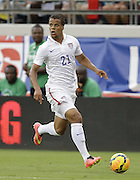 JACKSONVILLE, FL - JUNE 07:  Defender Timmy Chandler #21 of the United States dribbles during the international friendly match against Nigeria at EverBank Field on June 7, 2014 in Jacksonville, Florida.  (Photo by Mike Zarrilli/Getty Images)
