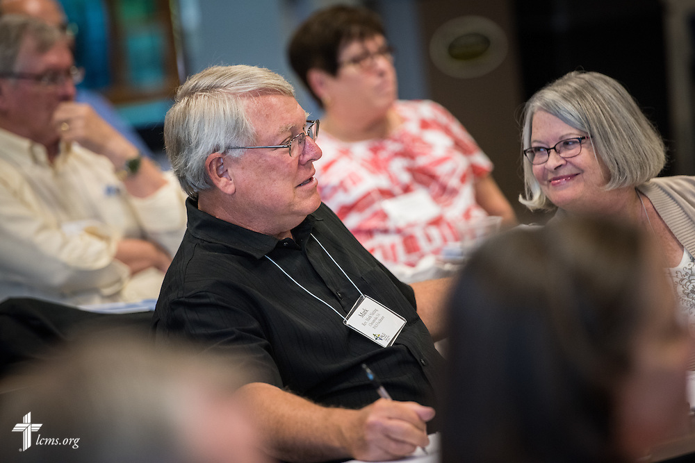 The Rev. Mark Nieting, former pastor of Hope Lutheran Church in Virginia Beach, Va., and now retired, participates during the Post Seminary Applied Learning and Support (PALS) Facilitator Training Conference at the International Center of The Lutheran Church–Missouri Synod on Tuesday, August 4, 2015, in Kirkwood, Mo. LCMS Communications/Erik M. Lunsford