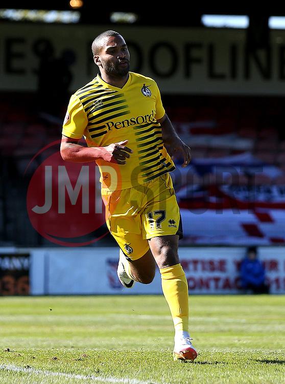 Jermaine Easter of Bristol Rovers celebrates scoring a goal - Mandatory by-line: Robbie Stephenson/JMP - 30/04/2016 - FOOTBALL - Bootham Crescent - York, England - York City v Bristol Rovers - Sky Bet League Two