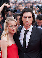 Actress Joanne Tucker and actor Adam Driver at the gala screening for the film Paterson at the 69th Cannes Film Festival, Monday 16th May 2016, Cannes, France. Photography: Doreen Kennedy