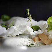 The rice yogurt and white asparagus Friday, May 17, 2013 at Next restaurant's vegan menu. (Brian Cassella/Chicago Tribune)  B582928594Z.1 <br /> ....OUTSIDE TRIBUNE CO.- NO MAGS,  NO SALES, NO INTERNET, NO TV, CHICAGO OUT, NO DIGITAL MANIPULATION...