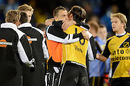 Onderwerp/Subject: NAC Breda - Eredivisie<br /> Reklame:  <br /> Club/Team/Country: <br /> Seizoen/Season: 2012/2013<br /> FOTO/PHOTO: Kenny VAN DER WEG (C) of NAC Breda celebrating the victory with Nemanja GUDELJ (R) of NAC Breda. (Photo by PICS UNITED)<br /> <br /> Trefwoorden/Keywords: <br /> #02 $94 ±1342772543138 ±1342772543138<br /> Photo- & Copyrights © PICS UNITED <br /> P.O. Box 7164 - 5605 BE  EINDHOVEN (THE NETHERLANDS) <br /> Phone +31 (0)40 296 28 00 <br /> Fax +31 (0) 40 248 47 43 <br /> http://www.pics-united.com <br /> e-mail : sales@pics-united.com (If you would like to raise any issues regarding any aspects of products / service of PICS UNITED) or <br /> e-mail : sales@pics-united.com   <br /> <br /> ATTENTIE: <br /> Publicatie ook bij aanbieding door derden is slechts toegestaan na verkregen toestemming van Pics United. <br /> VOLLEDIGE NAAMSVERMELDING IS VERPLICHT! (© PICS UNITED/Naam Fotograaf, zie veld 4 van de bestandsinfo 'credits') <br /> ATTENTION:  <br /> © Pics United. Reproduction/publication of this photo by any parties is only permitted after authorisation is sought and obtained from  PICS UNITED- THE NETHERLANDS