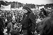 Rome jan 30th 2016, people gather at Rome's Circus Maximus. Thousands of people were gathering in Rome's Circus Maximus for a pro-family protest that opposes proposed legislation permitting civil unions for same-sex couples and legal recognition for their families. In the picture a nun