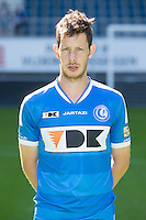 Gent's Thomas Matton pictured during the 2015-2016 season photo shoot of Belgian first league soccer team KAA Gent, Saturday 11 July 2015 in Gent.