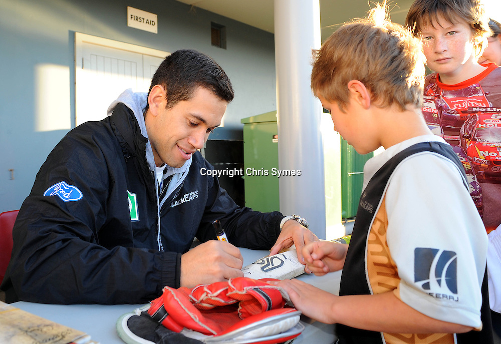 Black Caps captain Ross Taylor during the Black Caps signing session. Saxon Stadium, Richmond, Nelson, New Zealand. Tuesday 9 August 2011. Photo: Chris Symes/www.photosport.co.nz