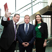 20.01.17<br /> Minister of State for Employment and Small Business, Deputy Pat Breen addressed a seminar for SMEs on The Role of Education in Supporting Small Business at University of Limerick.<br /> <br /> Pictured at the event were, Dr. Liam Brown, LIT, Minister of State for Employment and Small Business, Deputy Pat Breen and Gillian Barry, LIT.<br /> <br />  Jointly hosted by the Kemmy Business school and the faculty of Science and Engineering, the event brought together small and medium enterprises along with representative bodies, Local Enterprise Offices, Chambers of Commerce, Irish Small and Medium Enterprises association (ISME), Enterprise Ireland and the IDA. The aim of the event was to stimulate greater collaboration between third level institutes and SMEs in relation to research, education and business advice. To date, University of Limerick and Limerick Institute of Technology have supported a number of start-ups through the Nexus Innovation Centre and LIT's Enterprise Centres while academic staff have provided expert advice to local companies. Picture: Alan Place