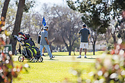 Male Golfers at Los Amigos Golf Course Downey California