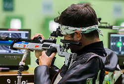 Tanguy de la Forest of France during Qualification of R5 - Mixed 10m Air Rifle Prone SH2 on day 6 during the Rio 2016 Summer Paralympics Games on September 13, 2016 in Olympic Shooting Centre, Rio de Janeiro, Brazil. Photo by Vid Ponikvar / Sportida