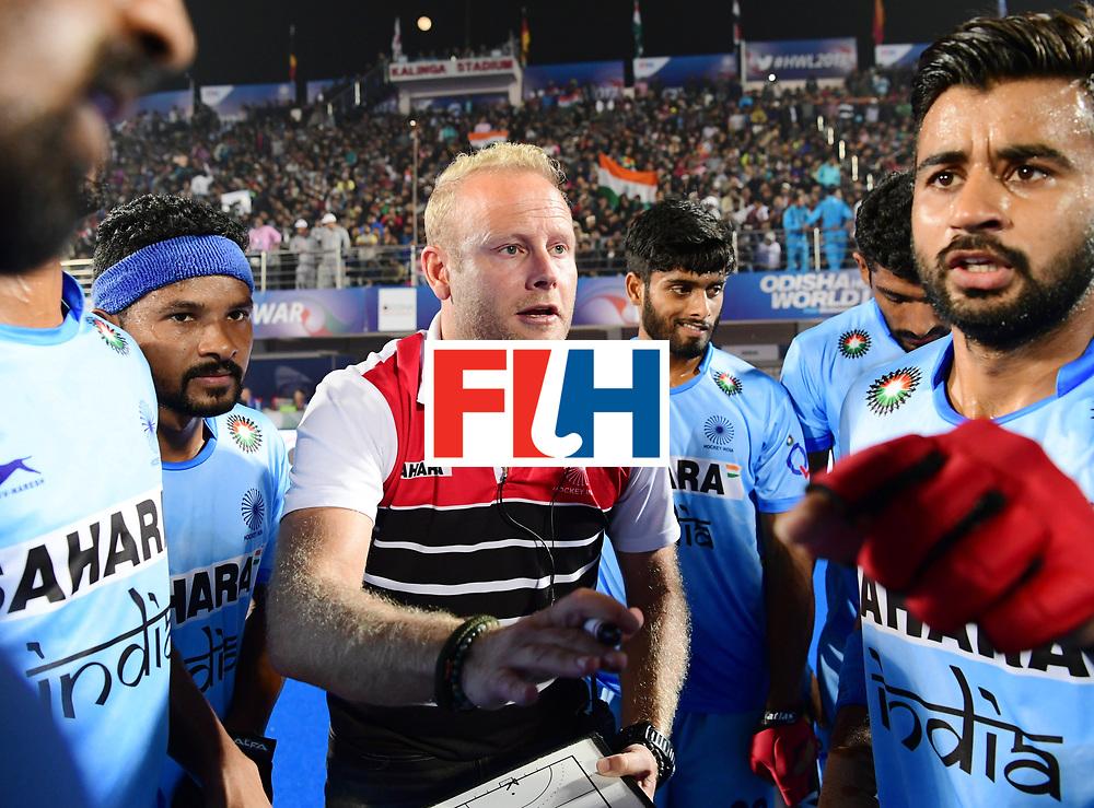 Odisha Men's Hockey World League Final Bhubaneswar 2017<br /> Match id:10<br /> India v Germany<br /> Foto: coach Sjoerd Marijne (Ind) <br /> WORLDSPORTPICS COPYRIGHT FRANK UIJLENBROEK