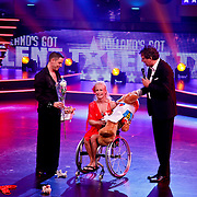 NLD/Hilversum/20100910 - Finale Holland's got Talent 2010, Alex en Jaqueline Glijn en Robert ten Brink