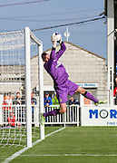 Chris Dunn (Cambridge United) saves a shot during the Sky Bet League 2 match between Hartlepool United and Cambridge United at Victoria Park, Hartlepool, England on 19 September 2015. Photo by George Ledger.