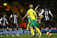 Picture by Paul Chesterton/Focus Images Ltd.  07904 640267.10/12/11.Grant Holt of Norwich (hidden) scores his sides 4th goal and celebrates during during the Barclays Premier League match at Carrow Road Stadium, Norwich.
