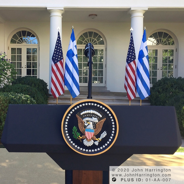 Pomp and circumstance in the Rose Garden with the Greek Prime Minister and President Trump.