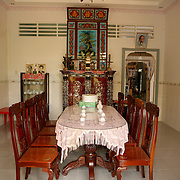 Interior of a home Ben Tre on the Mekong Delta, Vietnam.  Photography by Jose More